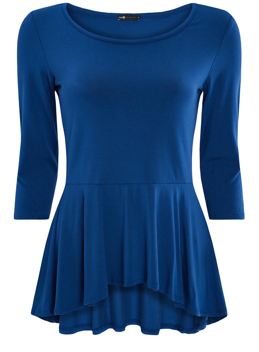 Блузка24200003/45753/7500NЖенская блузка oodji Collection выполнена из вискозы добавлением полиуретана. Модель с круглым вырезом горловины по талии дополнена баской.