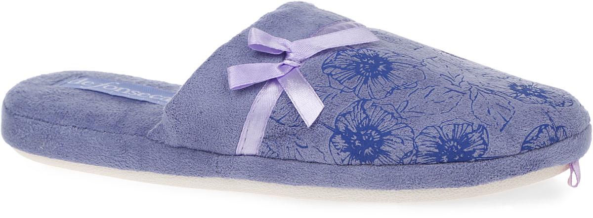 ROMA-TOP-W44Женские тапки от De Fonseca выполнены из ворсистого текстиля и оформлены атласной лентой с бантиком. Подкладка и стелька изготовлены из мягкого текстиля. Подошва из резины оснащена рифлением.