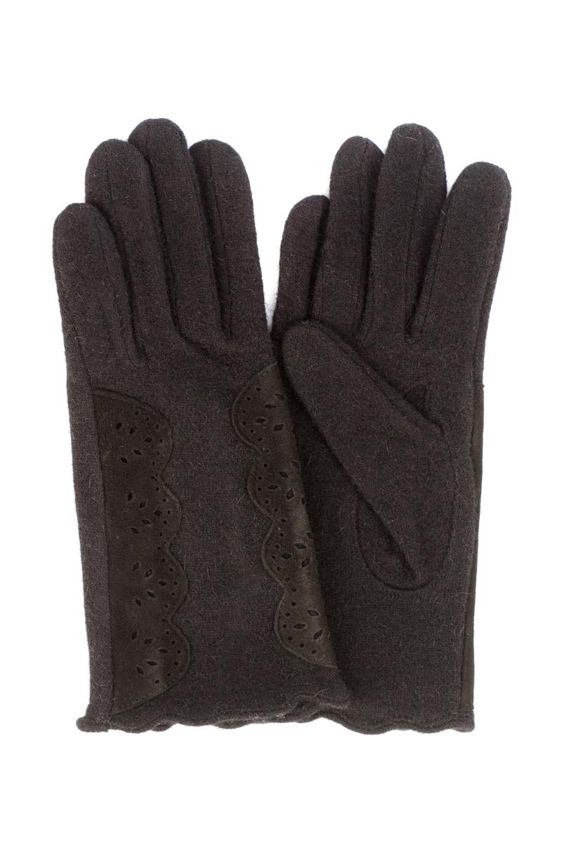 95022-12ВСтильные женские перчатки Moltini изготовленные из высококачественных материалов, станут идеальным вариантом для прохладной погоды. Они хорошо сохраняют тепло, мягкие, идеально сидят на руке и отлично тянутся. Перчатки оформлены нашивками с узорами из замшевого материала.