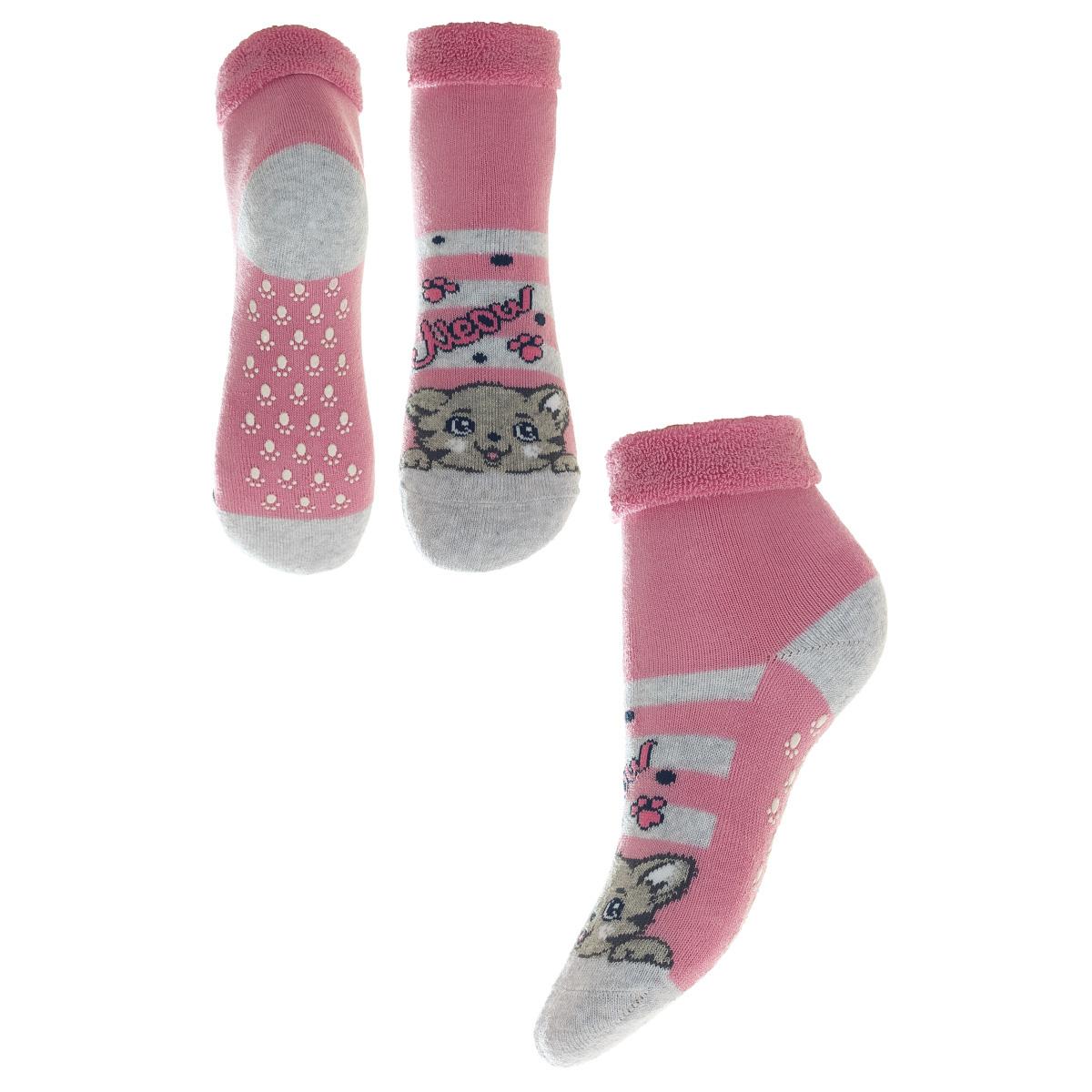 НоскиSOFTIKI25905-234Удобные носочки для девочки Conte-Kids Sof-tiki, изготовленные из высококачественного комбинированного материала, очень мягкие и приятные на ощупь, позволяют коже дышать. Модель оформлена махровым отворотом на паголенке и эластичной резинкой, которая плотно облегает ногу, обеспечивая комфорт и удобство, а антискользящее покрытие выручит при беге и ходьбе по скользкому полу.