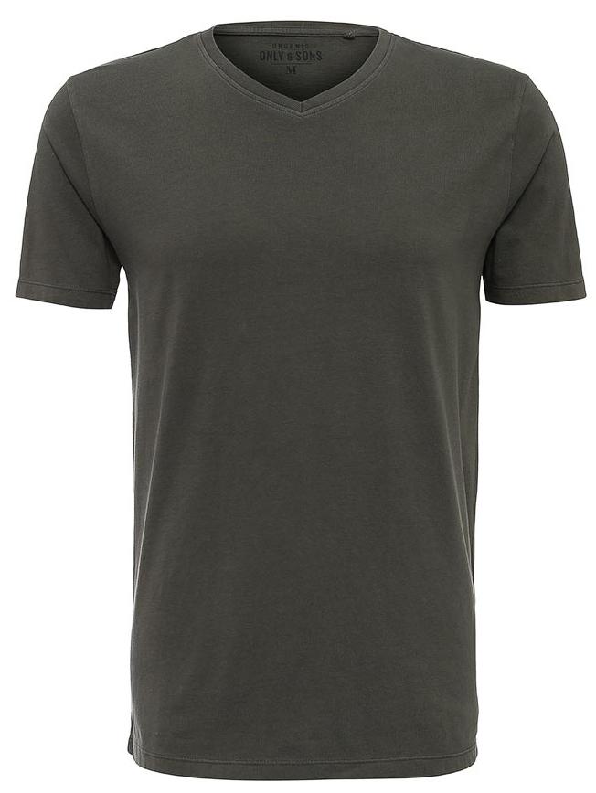 22004073_Dark NavyСтильная мужская футболка Only & Sons, выполненная из натурального хлопка необычайно мягкая и приятная на ощупь. Модель с короткими рукавами и V-образным вырезом горловины - идеальный вариант для создания образа в стиле Casual. Такая модель подарит вам комфорт в течение всего дня и послужит замечательным дополнением к вашему гардеробу.