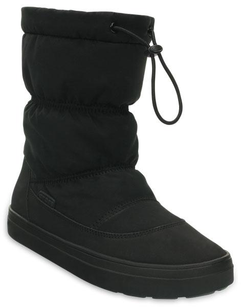 203422-001Легкие универсальные сапоги LodgePoint Pull-on Boot от Crocs подойдут на каждый день. Верх выполнен из водоотталкивающего нейлона, голенище дополнено шнурком с фиксатором. Подошва Croslite улучшает сцепление и увеличивает срок службы обуви.