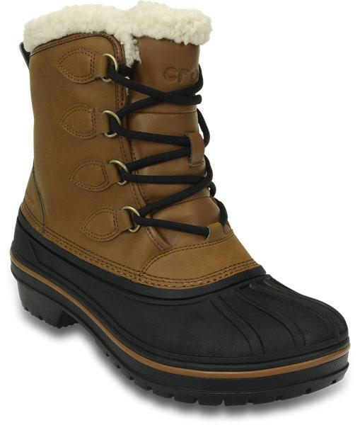 203430-001Водонепроницаемые ботинки AllCast II Boot от Crocs обеспечивают комфорт в снег и слякоть. Прочный верх выполнен из синтетического нубука и дополнен эластичной шнуровкой со стоппером. Легкая основа изготовлена из материала Croslite с водоотталкивающим покрытием. 200-граммовая изоляция обеспечивает тепло, не увеличивая вес. Подкладка и отделка по верху голенища выполнены из искусственной овчины. Герметичные швы не пропускают влагу.