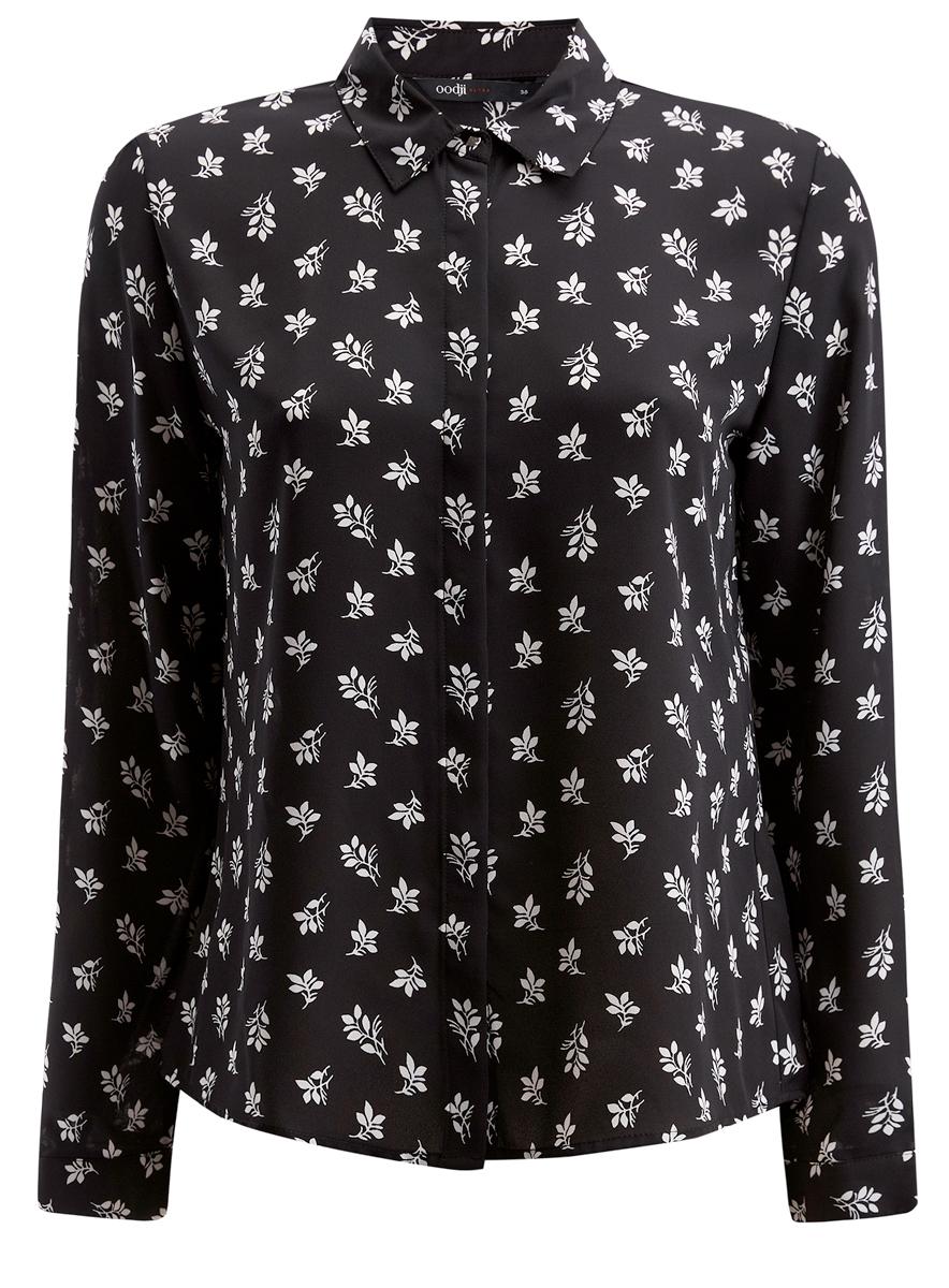 Блузка11400368-3/32823/3529AЖенская блузка oodji Ultra выполнена из воздушной ткани с длинными рукавами и скрытыми пуговицами. Имеет классический отложной воротник и декорирована металлической пуговицей под ним.