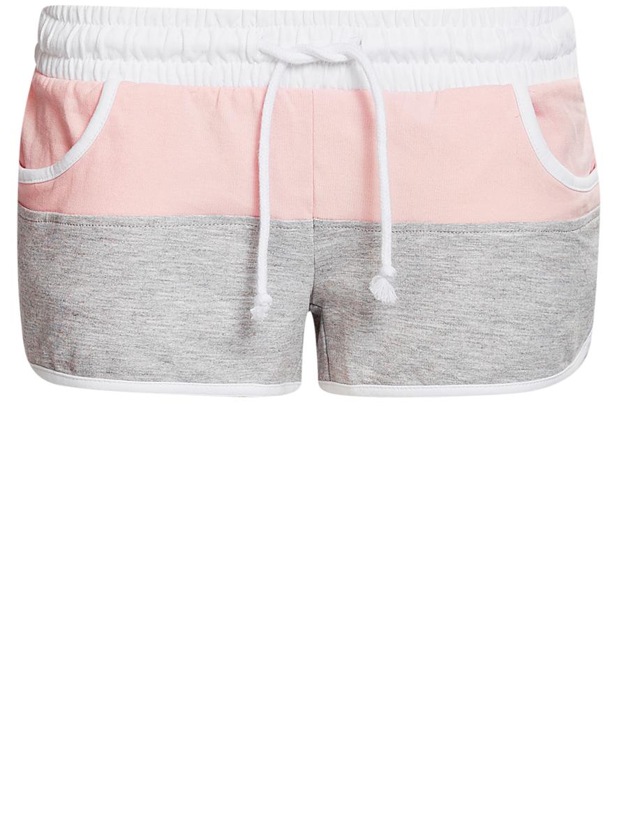 Шорты17001030-3/35677/2040BЖенские шорты oodji Ultra выполнены из хлопка с небольшим добавлением вискозы. Модель имеет в поясе широкую эластичную резинку и шнурок. Спереди шорты дополнены двумя втачными карманами.