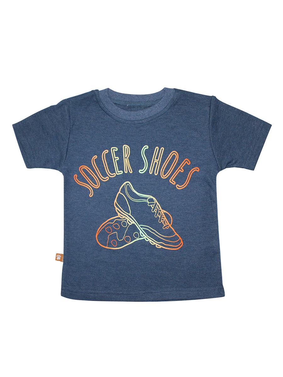 Футболка20416Стильная футболка для мальчика КотМарКот выполнена из натурального хлопка. Модель с круглым вырезом горловины и короткими рукавами оформлена интересным принтом.