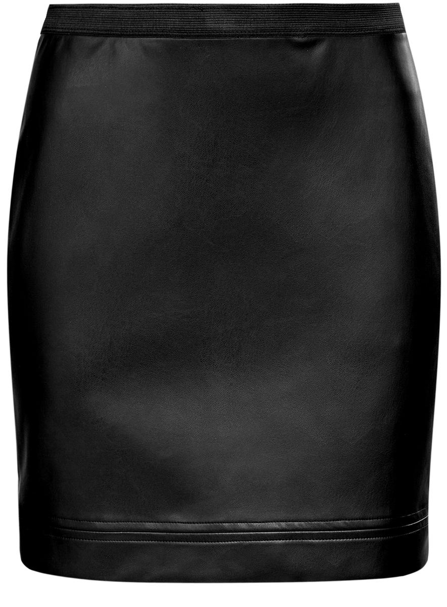 Юбка11602172/45059/2900NЮбка oodji Ultra выполнена из полиэстера с покрытием из полиуретана. Укороченная юбка имеет эластичную резинку на талии.