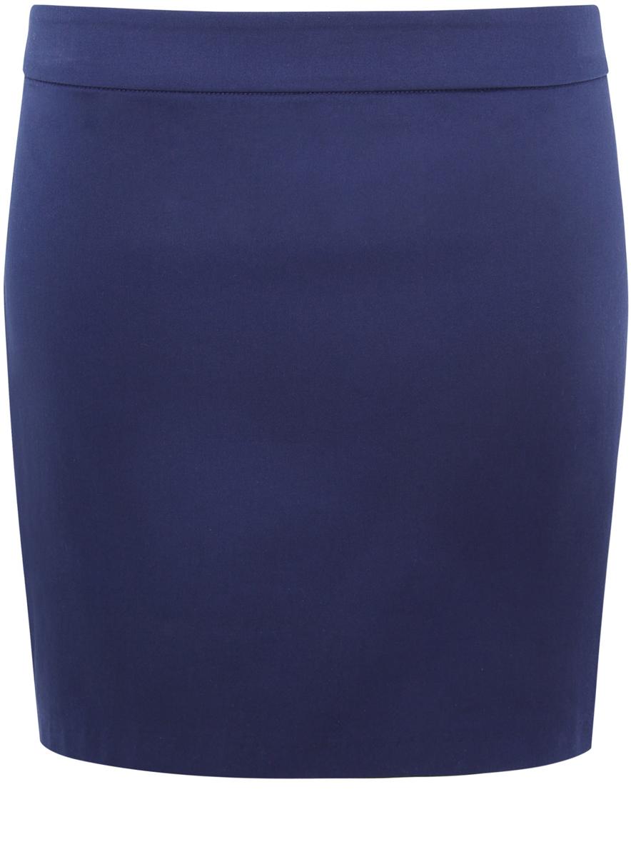 Юбка11601179-2/14522/7900NСтильная женская юбка мини-длины выполнена из хлопка с добавлением полиуретана. Модель сзади застегивается на потайную застежку-молнию.