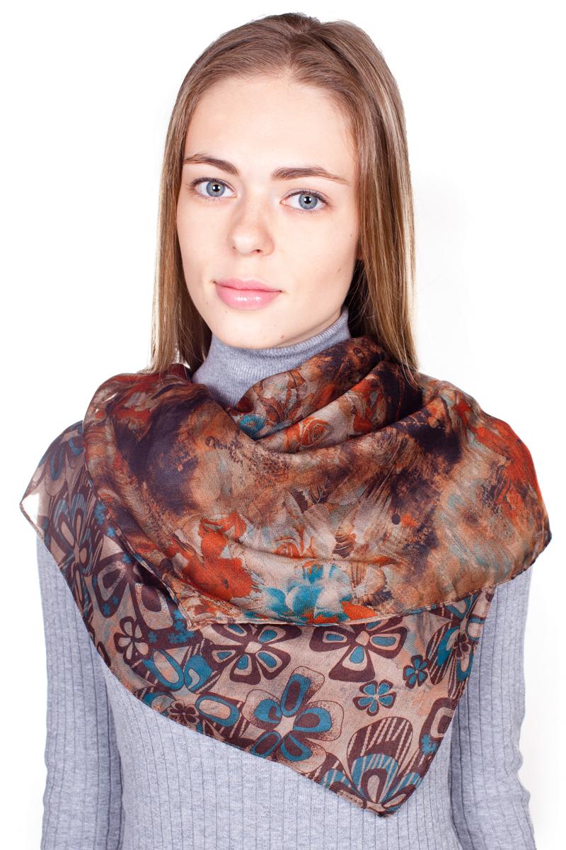 ПалантинYY-21682-19Стильный женский палантин Sophie Ramage станет великолепным завершением любого наряда. Палантин изготовлен из 100% вискозы и оформлен нежным цветочным принтом. Изящный палантин поможет вам создать изысканный женственный образ, а также согреет в непогоду.