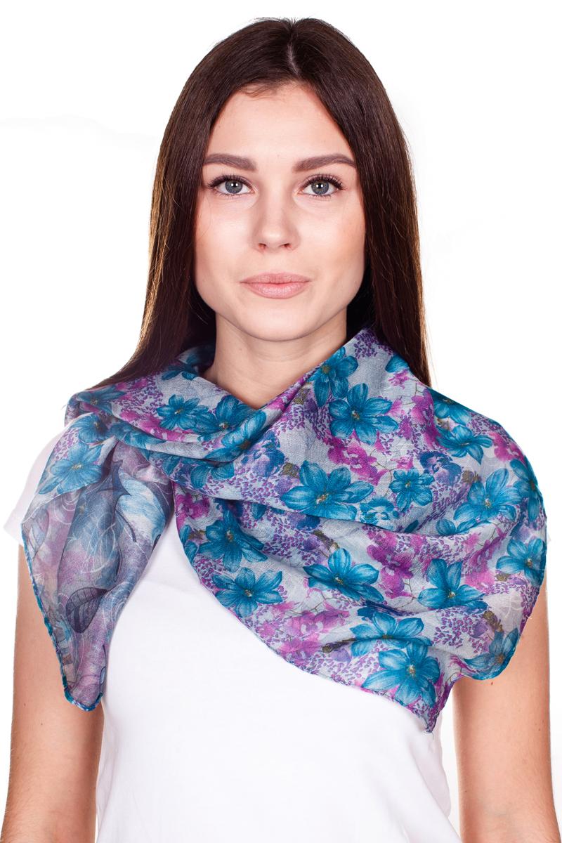 ПалантинYY-21682-32Стильный женский палантин Sophie Ramage станет великолепным завершением любого наряда. Палантин изготовлен из 100% вискозы и оформлен нежным цветочным принтом. Изящный палантин поможет вам создать изысканный женственный образ, а также согреет в непогоду.