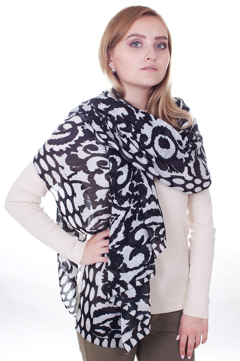 ПалантинYY-21667-25Стильный женский палантин Sophie Ramage станет великолепным завершением любого наряда. Палантин изготовлен из модала с добавлением шерсти и оформлен оригинальными узорами. Изящный палантин поможет вам создать изысканный женственный образ, а также согреет в непогоду.