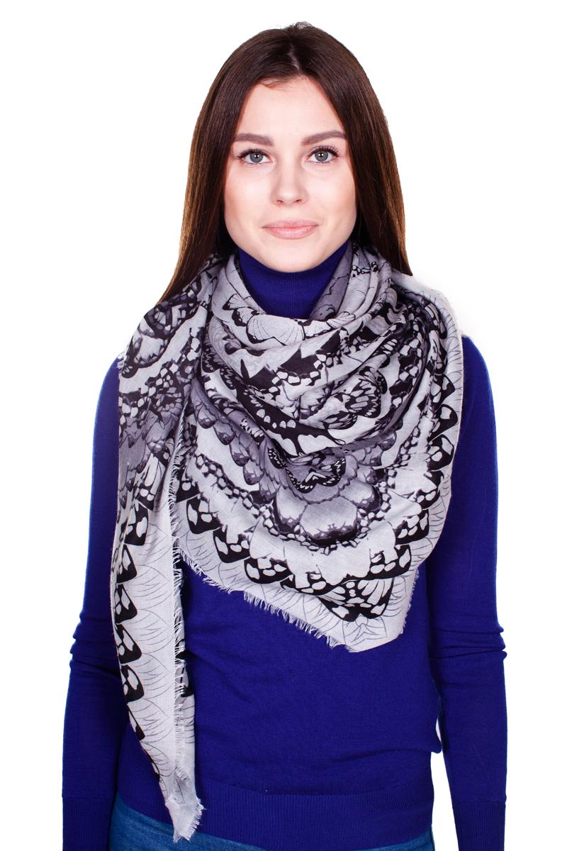 ПлатокYY-21643-13Стильный женский платок Laura Milano станет великолепным завершением любого наряда. Платок изготовлен из модала с добавлением шерсти и оформлен цветочным принтом. По краям модель дополнена неширокой бахромой. Изящный платок поможет вам создать изысканный женственный образ, а также согреет в непогоду.