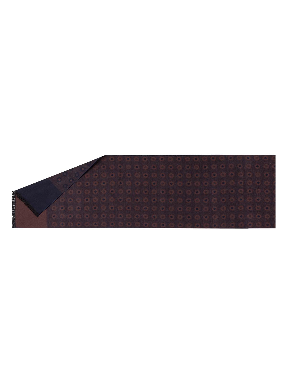 ШарфJG43-7610Элегантный мужской шарф Eleganzza согреет вас в холодное время года, а также станет изысканным аксессуаром. Оригинальный и стильный шарф выполнен из сочетания высококачественных материалов шерсти и шелка, оформлен контрастным принтом и украшен жгутиками бахромой по краям.