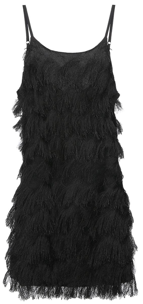 CK2720_BlackСтильное платье Glamorous, выполненное из легкого материала на подкладке из полиэстера, подчеркнет ваш уникальный стиль и поможет создать оригинальный женственный образ. Платье-мини на бретельках и с круглым вырезом горловины придется вам по душе.