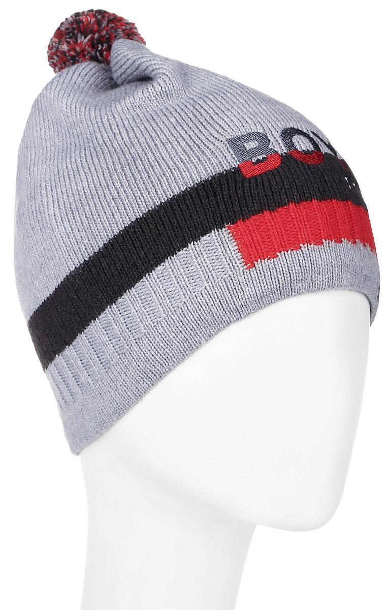 ШапкаMBH6857/2Детская шапка Marhatter выполнена из шерсти и акрила, подкладка - из полиэстера. Модель оформлена вышивкой в виде надписи. Изделие дополнено небольшим помпоном. Уважаемые клиенты! Размер, доступный для заказа, является обхватом головы.