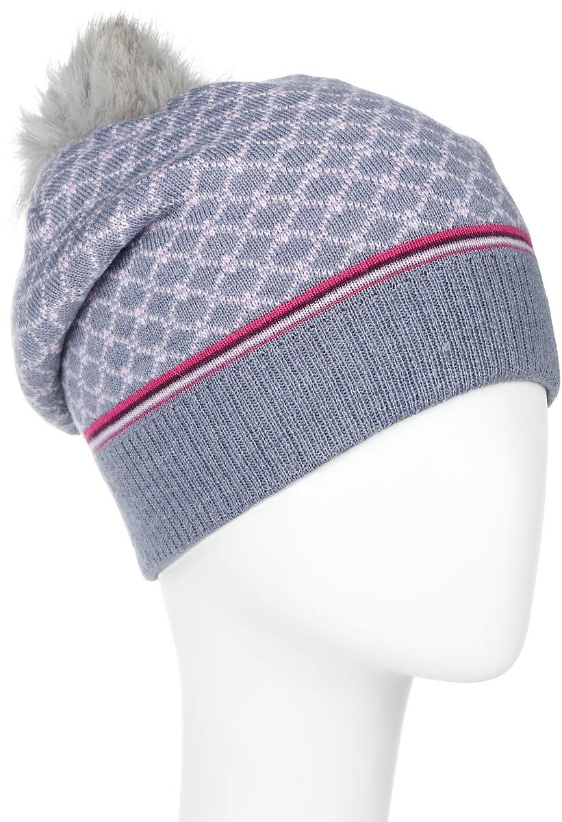 4493Теплая женская шапка Marhatter отлично дополнит ваш образ в холодную погоду. Сочетание шерсти и акрила максимально сохраняет тепло и обеспечивает удобную посадку, невероятную легкость и мягкость. Шапка оформлена стильным принтом и дополнена фирменной нашивкой с логотипом бренда. Макушка шапки дополнена пушистым помпоном из искуственного меха. Модель составит идеальный комплект с модной верхней одеждой, в ней вам будет уютно и тепло. Уважаемые клиенты! Размер, доступный для заказа, является обхватом головы.