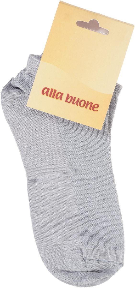 CD004Удобные носки Alla Buone, изготовленные из хлопка с добавлением полиамида, очень мягкие и приятные на ощупь, позволяют коже дышать. Облегченные носки с сетчатым узором на верхней части изделия. Эластичная резинка плотно облегает ногу, не сдавливая ее, обеспечивая комфорт и удобство. Модель с укороченным паголенком. Практичные и комфортные носки великолепно подойдут к любой вашей обуви.