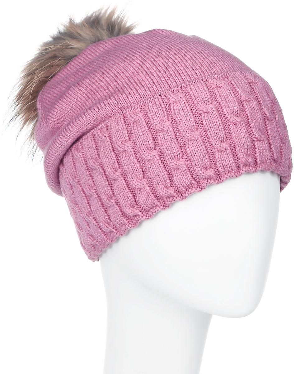 ШапкаMLH6204Теплая женская шапка Marhatter отлично дополнит ваш образ в холодную погоду. Сочетание шерсти и акрила максимально сохраняет тепло и обеспечивает удобную посадку, невероятную легкость и мягкость. Шапка с большим вязанным отворотом выполнена в лаконичном однотонном стиле. Макушка шапки дополнена пушистым помпоном из натурального меха енота. Модель составит идеальный комплект с модной верхней одеждой, в ней вам будет уютно и тепло. Уважаемые клиенты! Размер, доступный для заказа, является обхватом головы.
