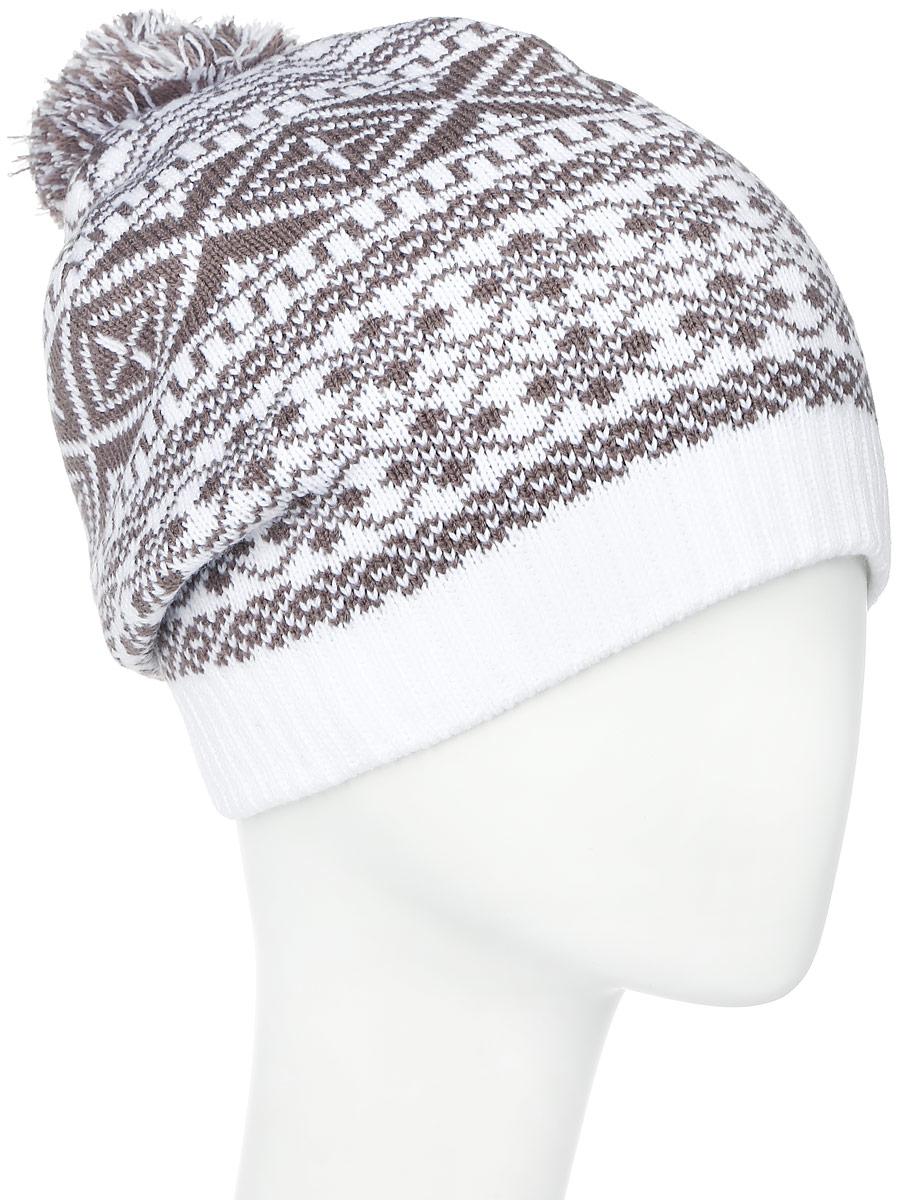 ШапкаRLH6861/2Теплая женская Elfrio шапка, выполненная из 100% акрила, отлично дополнит ваш образ в холодную погоду. Подкладка выполнена из теплого флиса. Шапка двойная оформлена контрастным принтом с узорами и дополнена на макушке пушистым помпоном. Модель составит идеальный комплект с модной верхней одеждой, в ней вам будет уютно и тепло. Уважаемые клиенты! Размер, доступный для заказа, является обхватом головы.