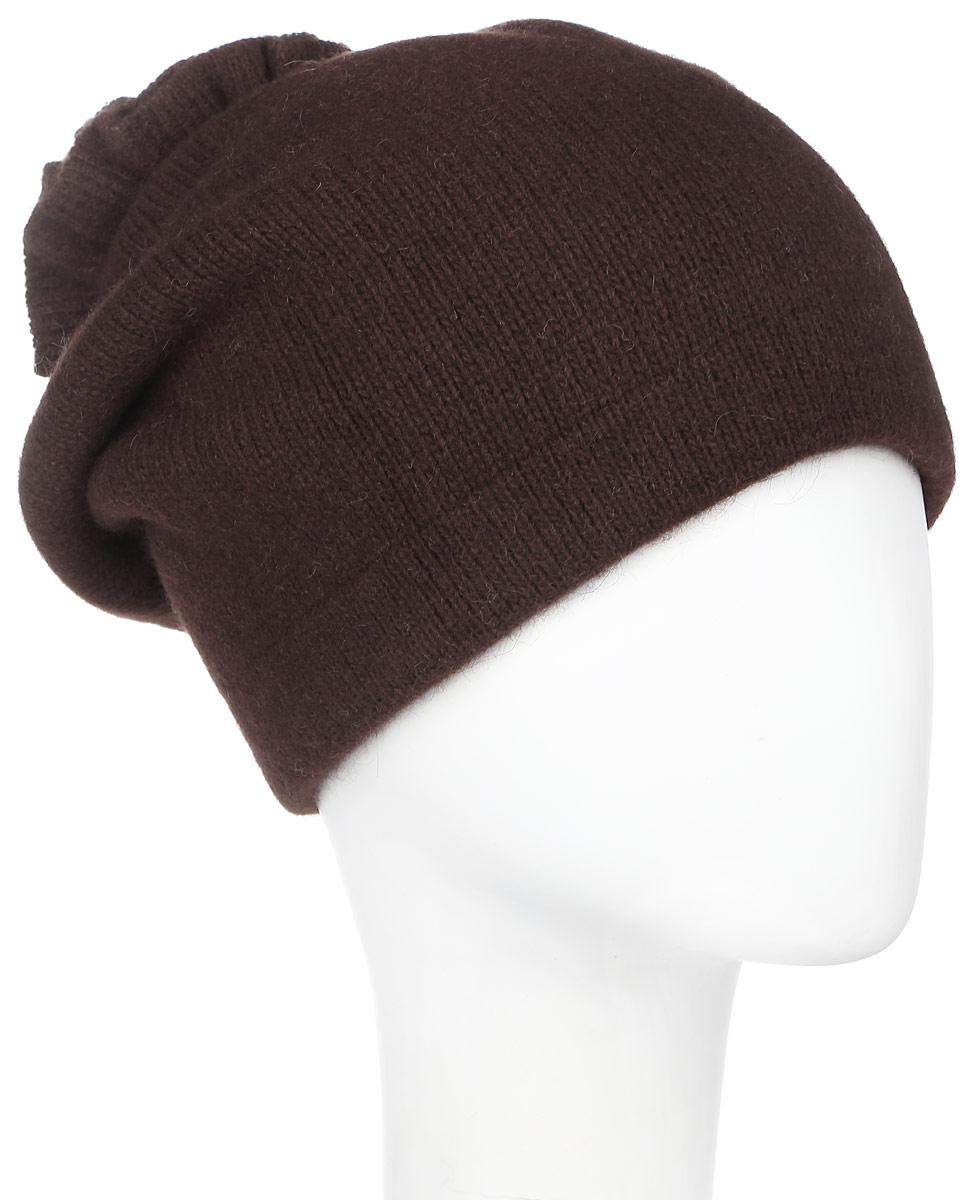 Шапка261881L-47Теплая женская шапка Vittorio Richi отлично дополнит ваш образ в холодную погоду. Сочетание шерсти, ангоры и полиамида сохраняет тепло и обеспечивает удобную посадку, невероятную легкость и мягкость. Удлиненная шапка выполнена плотной вязкой и дополнена на макушке оригинальным вязанным цветком. Модель составит идеальный комплект с модной верхней одеждой, в ней вам будет уютно и тепло. Уважаемые клиенты! Размер, доступный для заказа, является обхватом головы.