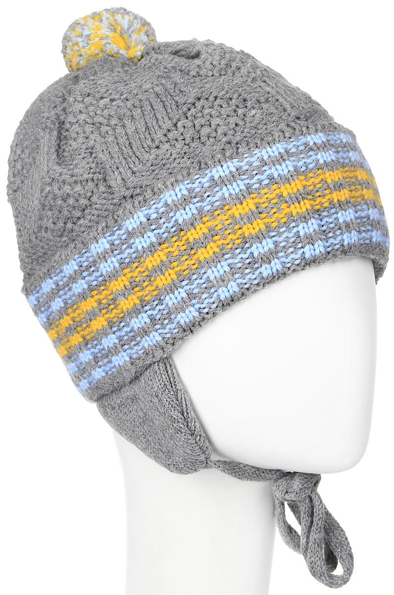 ШапкаMBU6034/2Теплая детская шапка Marhatter отлично дополнит образ вашего ребенка в холодную погоду. Сочетание шерсти и акрила максимально сохраняет тепло и обеспечивает удобную посадку. Подкладка выполнена из мягкого флиса. Шапка оформлена контрастным принтом, дополнена по низу большим отворотом и немного удлиненным ушками с завязками-шнурочками. На макушке дополнена небольшим пушистым помпоном. Уважаемые клиенты! Размер, доступный для заказа, является обхватом головы.