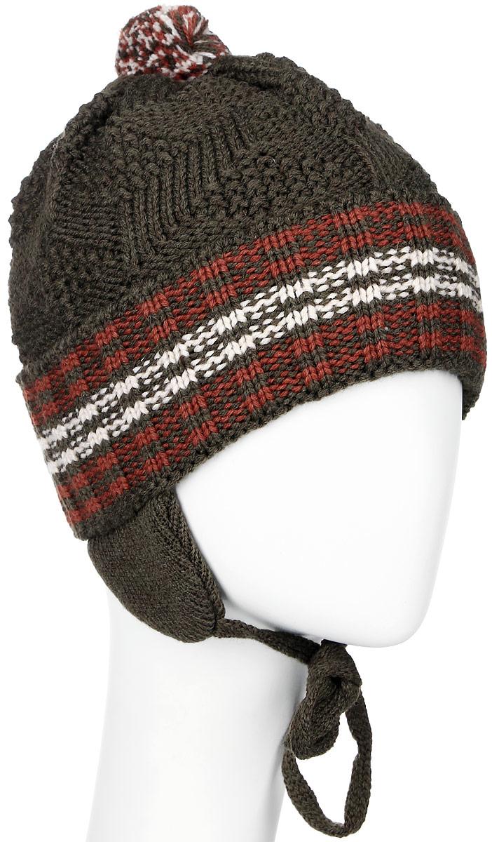 MBU6034/2Теплая детская шапка Marhatter отлично дополнит образ вашего ребенка в холодную погоду. Сочетание шерсти и акрила максимально сохраняет тепло и обеспечивает удобную посадку. Подкладка выполнена из мягкого флиса. Шапка оформлена контрастным принтом, дополнена по низу большим отворотом и немного удлиненным ушками с завязками-шнурочками. На макушке дополнена небольшим пушистым помпоном. Уважаемые клиенты! Размер, доступный для заказа, является обхватом головы.