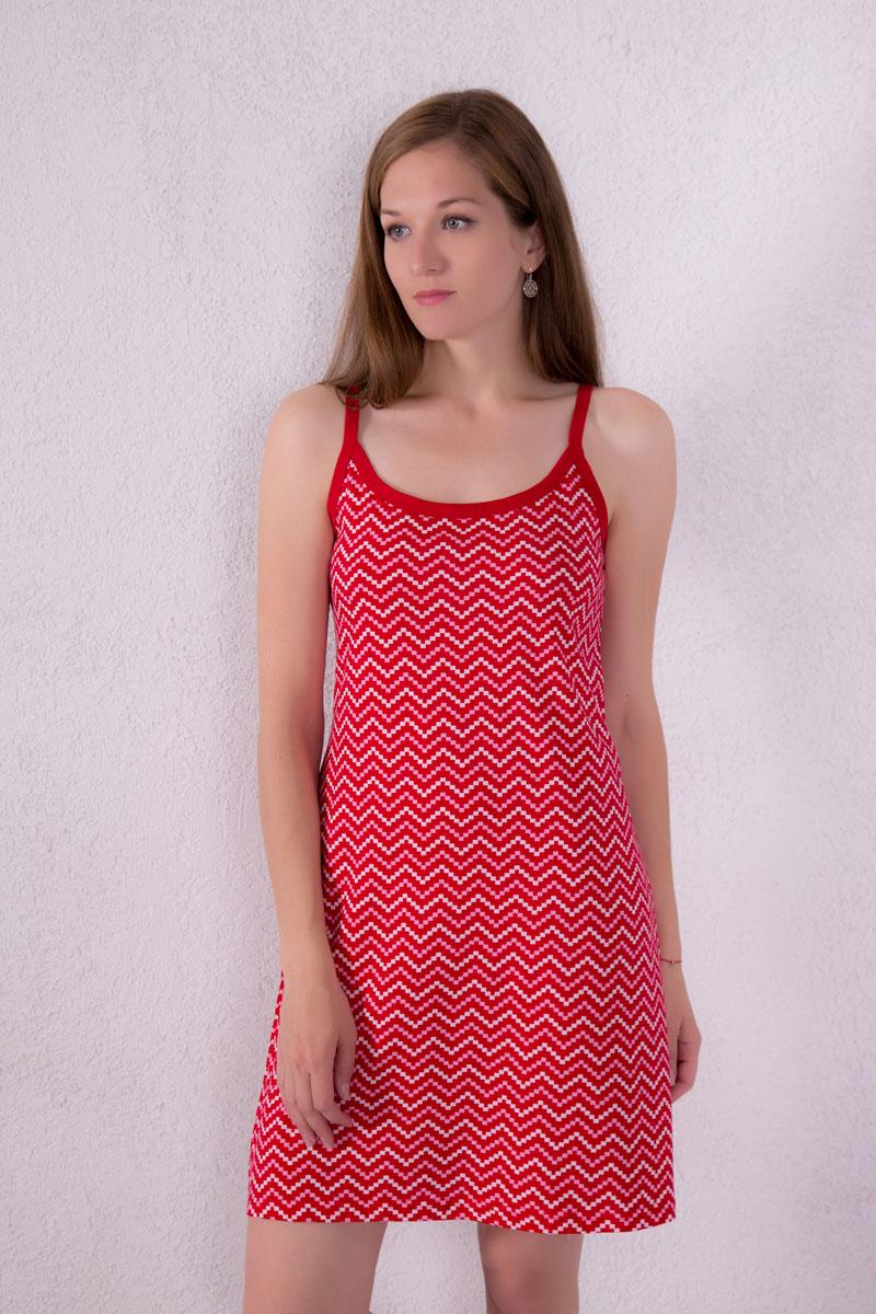 Платье домашнее7117110306Платье домашнее Violett изготовлено из натурального хлопка. Модель на бретельках оформлена интересным принтом.