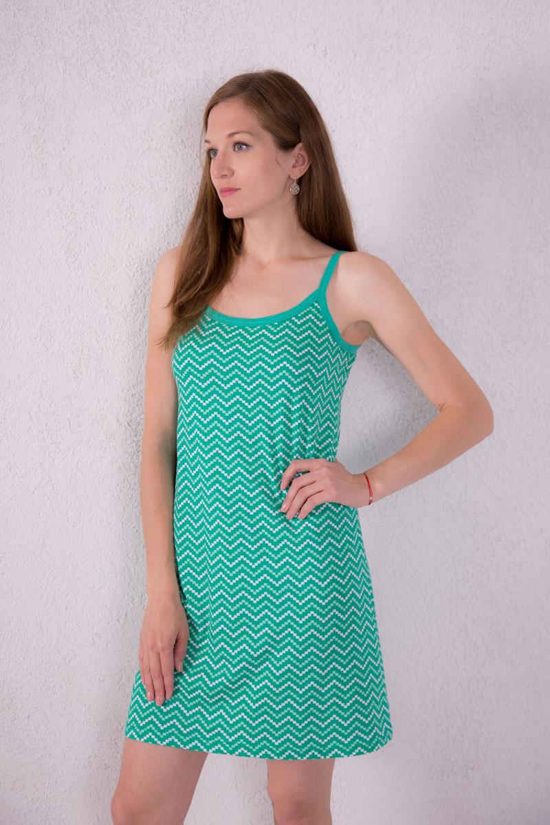 Платье домашнее7117110307Платье домашнее Violett изготовлено из натурального хлопка. Модель на бретельках оформлена оригинальным принтом.