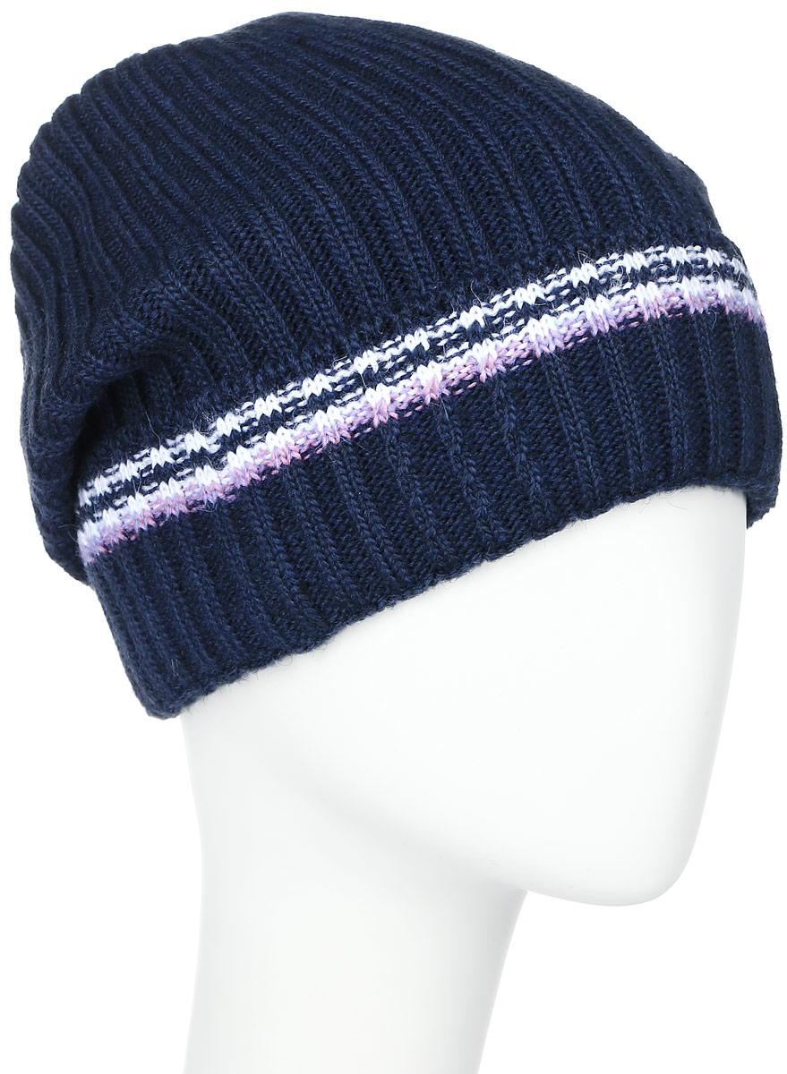 RWH6493/2Теплая женская Elfrio шапка, выполненная из 100% акрила, отлично дополнит ваш образ в холодную погоду. Подкладка выполнена из мягкого флиса. Удлиненная шапка имеет небольшой отворот, оформленный контрастными полосками. Модель составит идеальный комплект с модной верхней одеждой, в ней вам будет уютно и тепло. Уважаемые клиенты! Размер, доступный для заказа, является обхватом головы.