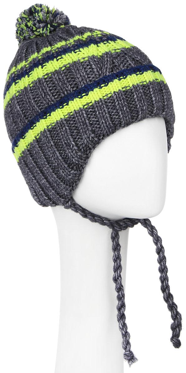 MBU6821/2Теплая детская шапка Marhatter отлично дополнит образ вашего ребенка в холодную погоду. Сочетание шерсти и акрила максимально сохраняет тепло и обеспечивает удобную посадку. Подкладка выполнена из мягкого флиса. Шапка оформлена контрастным принтом, дополнена по низу большим отворотом и немного удлиненным ушками с завязками-шнурочками. На макушке дополнена пушистым помпоном. Уважаемые клиенты! Размер, доступный для заказа, является обхватом головы.