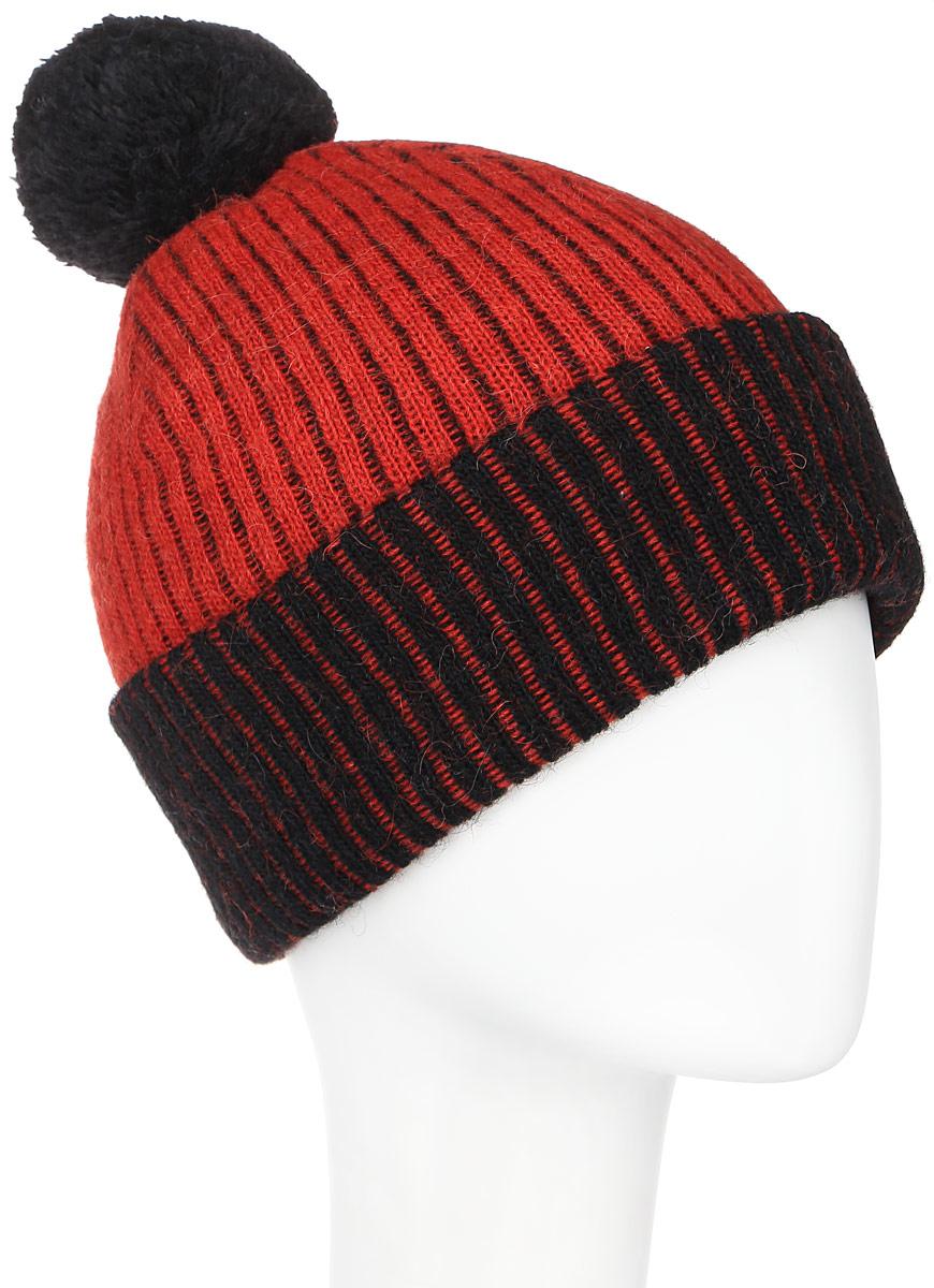 Шапка351687D-53/44Женская шапка Vittorio Richi выполнена из сочетания шерсти и полиамида. Модель мелкой вязки, дополнена помпоном, низ оформлен подворотом, . Уважаемые клиенты! Размер, доступный для заказа, является обхватом головы.