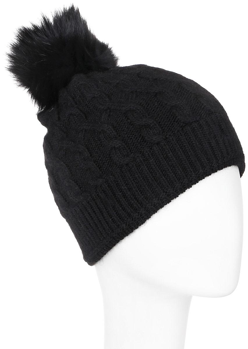"""Шапка3507/3Вязаная шапка Marhatter с орнаментом """"косы"""" выполнена из шерсти с добавлением нейлона, ангоры и вискозы. Она превосходно сохраняет тепло, мягкая и идеально прилегает к голове. Шапка оформлена меховым помпоном. Уважаемые клиенты! Размер, доступный для заказа, является обхватом головы."""