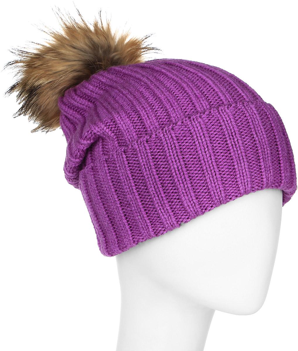 MLH6190Теплая женская шапка Marhatter отлично дополнит ваш образ в холодную погоду. Сочетание шерсти и акрила максимально сохраняет тепло и обеспечивает удобную посадку, невероятную легкость и мягкость. Удлиненная шапка с отворотом выполнена в лаконичном однотонном стиле и дополнена на макушке пушистым помпоном из натурального меха енота. Спереди модель дополнена небольшой металлической пластиной с изображением снежинки. Незаменимая вещь на прохладную погоду. Модель составит идеальный комплект с модной верхней одеждой, в ней вам будет уютно и тепло. Уважаемые клиенты! Размер, доступный для заказа, является обхватом головы.