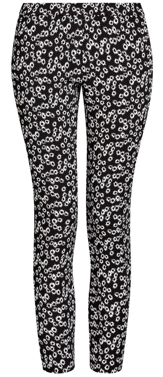 Брюки11707104N/42250/2910FСтильные женские брюки oodji выполнены из полиэстера с небольшим добавлением полиуретана. Модель со средней посадкой застегивается на молнию сбоку. Изделие сзади оформлено имитацией врезного кармана. Брючины снизу дополнены змейками.