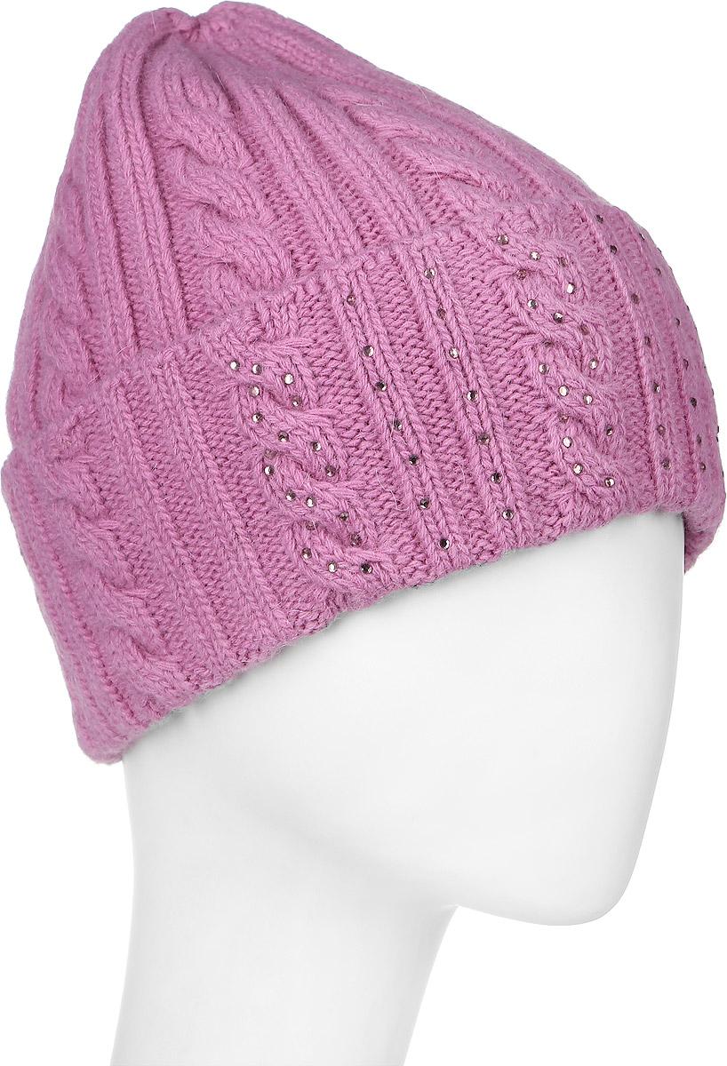Шапка341922L-85Теплая женская шапка Vittorio Richi отлично дополнит ваш образ в холодную погоду. Шапка из шерсти, ангоры и полиамида сохраняет тепло и обеспечивает удобную посадку, невероятную легкость и мягкость. Шапка с большим отворотом выполнена вязкой с узорами и оформлена выкладкой из блестящих страз. Модель составит идеальный комплект с модной верхней одеждой, в ней вам будет уютно и тепло. Уважаемые клиенты! Размер, доступный для заказа, является обхватом головы.