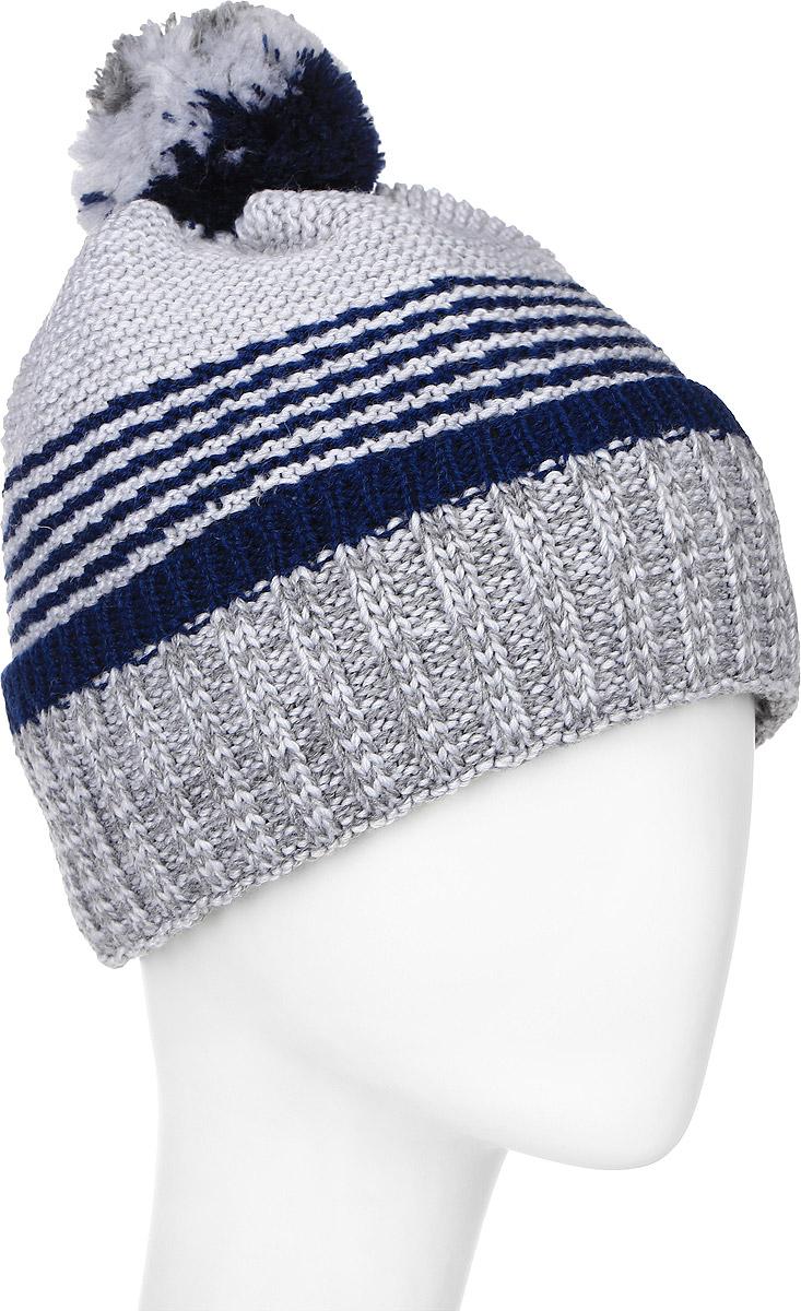 MYH6876/2Теплая мужская шапка Marhatter отлично дополнит ваш образ в холодную погоду. Сочетание шерсти и акрила максимально сохраняет тепло и обеспечивает удобную посадку, невероятную легкость и мягкость. Подкладка выполнена из мягкого флиса. Шапка двойная с отворотом, связанным резинкой, оформлена контрастным принтом. Макушка изделия дополнена небольшим пушистым помпоном. Незаменимая вещь на прохладную погоду. Модель составит идеальный комплект с модной верхней одеждой, в ней вам будет уютно и тепло. Уважаемые клиенты! Размер, доступный для заказа, является обхватом головы.