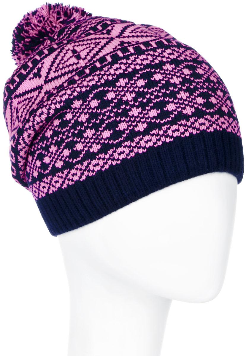 RLH6861/2Теплая женская Elfrio шапка, выполненная из 100% акрила, отлично дополнит ваш образ в холодную погоду. Подкладка выполнена из теплого флиса. Шапка двойная оформлена контрастным принтом с узорами и дополнена на макушке пушистым помпоном. Модель составит идеальный комплект с модной верхней одеждой, в ней вам будет уютно и тепло. Уважаемые клиенты! Размер, доступный для заказа, является обхватом головы.