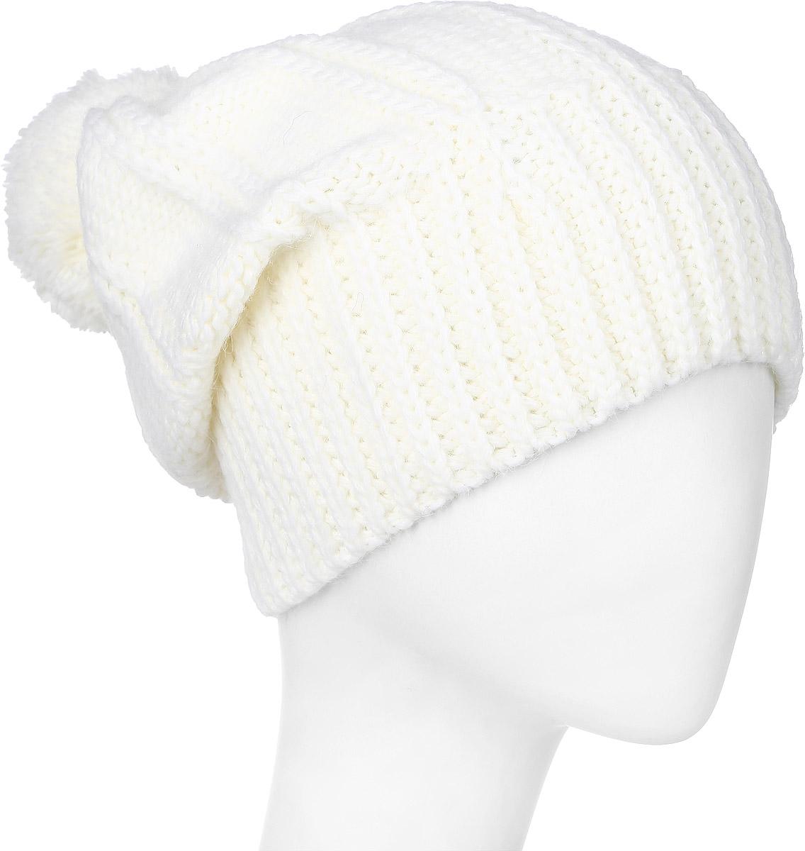 Шапка341884V-22Теплая женская шапка Vittorio Richi отлично дополнит ваш образ в холодную погоду. Сочетание шерсти и акрила сохраняет тепло и обеспечивает удобную посадку, невероятную легкость и мягкость. Удлиненная шапка выполнена крупной вязкой и дополнена на макушке пушистым помпоном. Модель составит идеальный комплект с модной верхней одеждой, в ней вам будет уютно и тепло. Уважаемые клиенты! Размер, доступный для заказа, является обхватом головы.