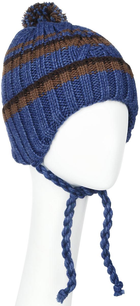 ШапкаMBU6821/2Теплая детская шапка Marhatter отлично дополнит образ вашего ребенка в холодную погоду. Сочетание шерсти и акрила максимально сохраняет тепло и обеспечивает удобную посадку. Подкладка выполнена из мягкого флиса. Шапка оформлена контрастным принтом, дополнена по низу большим отворотом и немного удлиненным ушками с завязками-шнурочками. На макушке дополнена пушистым помпоном. Уважаемые клиенты! Размер, доступный для заказа, является обхватом головы.