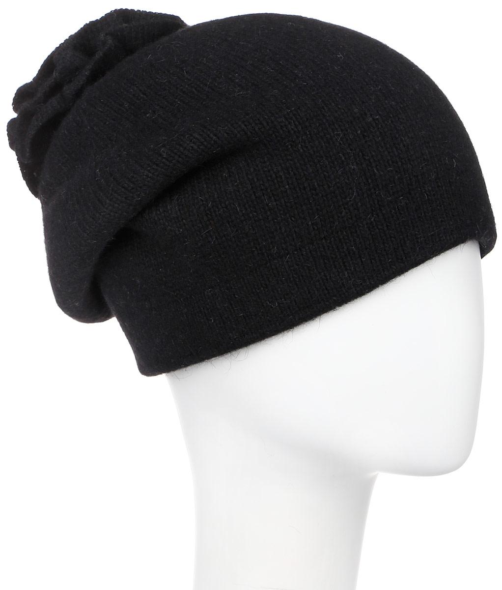 261881L-47Теплая женская шапка Vittorio Richi отлично дополнит ваш образ в холодную погоду. Сочетание шерсти, ангоры и полиамида сохраняет тепло и обеспечивает удобную посадку, невероятную легкость и мягкость. Удлиненная шапка выполнена плотной вязкой и дополнена на макушке оригинальным вязанным цветком. Модель составит идеальный комплект с модной верхней одеждой, в ней вам будет уютно и тепло. Уважаемые клиенты! Размер, доступный для заказа, является обхватом головы.