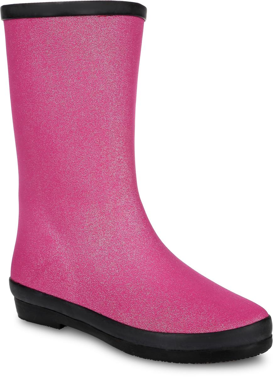 18597/216#06Резиновые сапоги для девочки от Keddo выполнены из прочной резины с текстильным покрытием. Задник оформлен логотипом бренда. Подкладка и стелька изготовлены из мягкого ворсина.