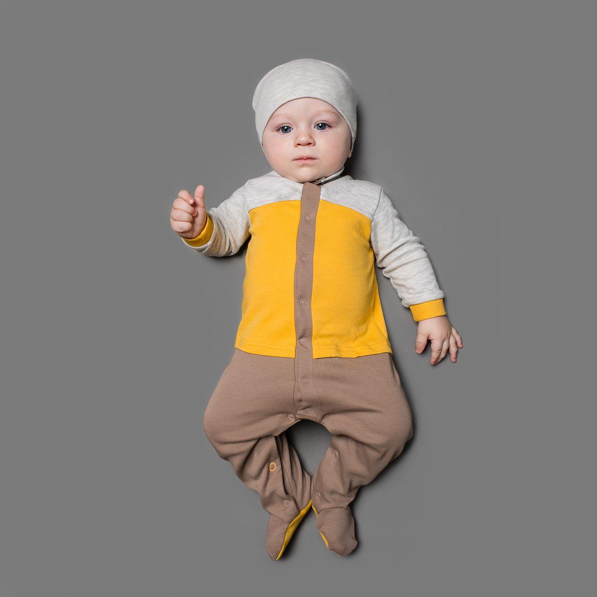 22-248Комбинезон Ёмаё, изготовленный из интерлока - очень удобный и практичный вид одежды для малышей. Комбинезон с воротником-стойкой и закрытыми ножками застегивается кнопками посередине и на ластовице. Рукава дополнены широкими эластичными манжетами, не пережимающими ручку. Отделка верхней части изделия придает эффект 2в1 - кофточка, ползунки. Комбинезон полностью соответствует особенностям жизни младенца в ранний период, не стесняя и не ограничивая его в движениях!
