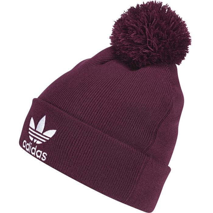AY9059ШАПКА . Стильная шапка для зимней погоды. Уютный вязаный материал и классический помпон. Три полоски на внутренней стороне подвернутого манжета. Мягкая флисовая подкладка обеспечивает дополнительное тепло.