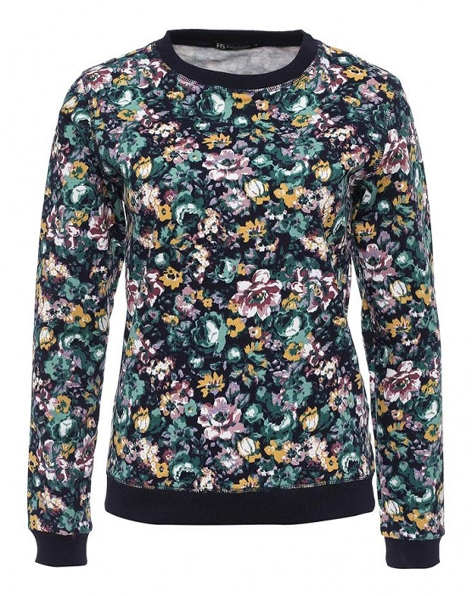 Свитшот262002_15179_TR Felpa, navy flowersСтильный женский свитшот F5 выполнен из натурального хлопка. Модель с круглым вырезом горловины и длинными рукавами оформлена цветочным принтом.