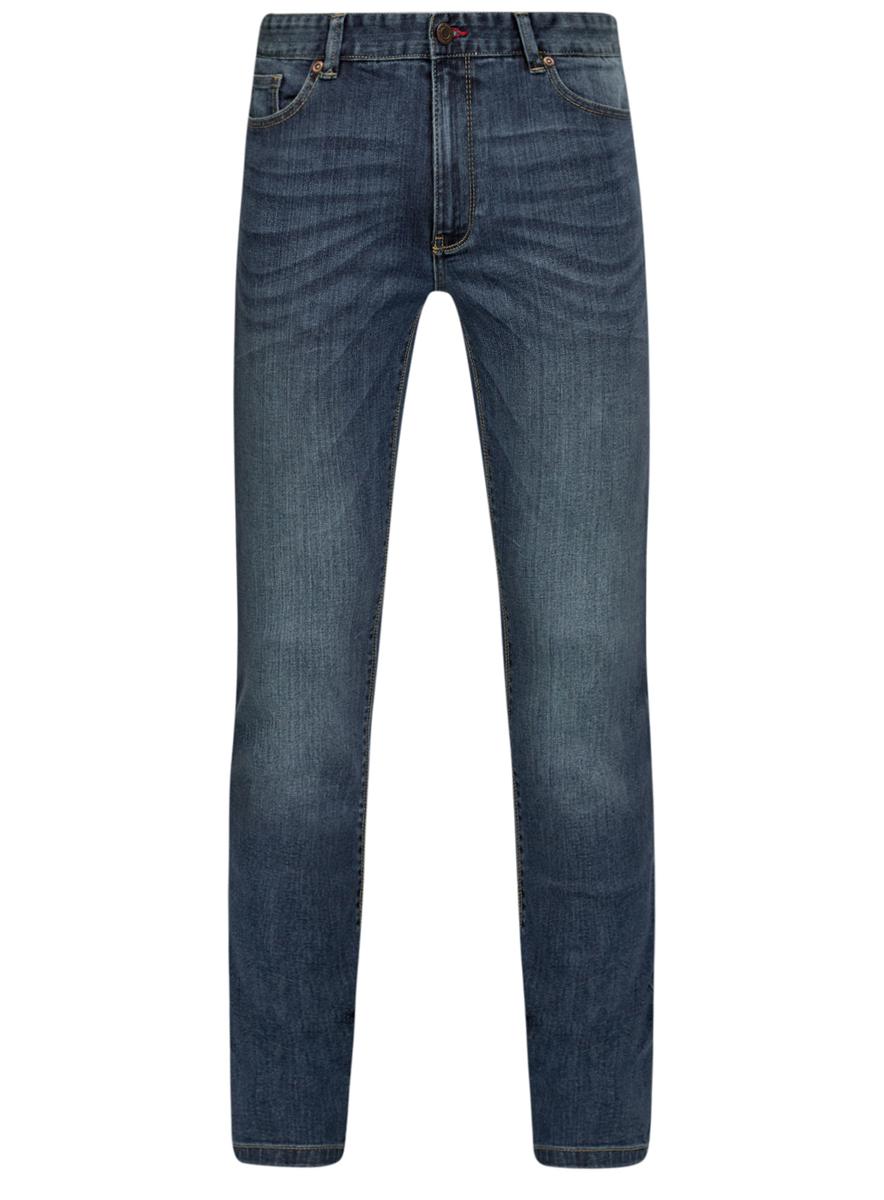 Джинсы6L120120M/46142/7500WСтильные мужские джинсы oodji Lab изготовлены из хлопка с добавлением полиуретана. Джинсы-слим средней посадки застегиваются на пуговицу в поясе и ширинку на застежке-молнии. На поясе имеются шлевки для ремня. Спереди модель дополнена двумя втачными карманами и одним небольшим накладным кармашком, а сзади - двумя накладными карманами. Модель оформлена контрастной прострочкой, эффектом потертости и перманентными складками.