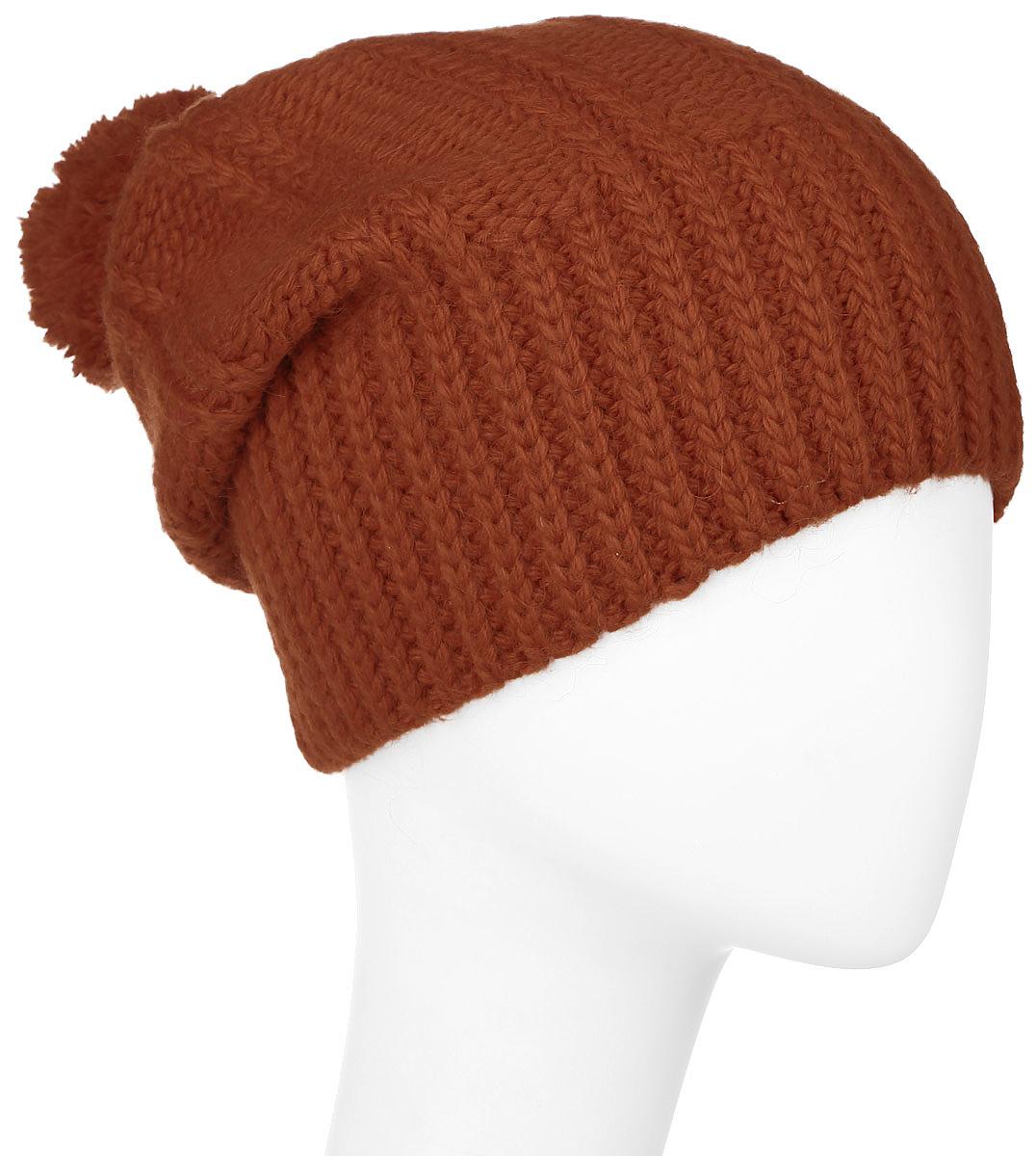 Шапка341884V-90Теплая женская шапка Vittorio Richi отлично дополнит ваш образ в холодную погоду. Сочетание шерсти, полиамида и кашемира сохраняет тепло и обеспечивает удобную посадку, невероятную легкость и мягкость. Удлиненная шапка выполнена крупной вязкой и дополнена на макушке пушистым помпоном. Модель составит идеальный комплект с модной верхней одеждой, в ней вам будет уютно и тепло. Уважаемые клиенты! Размер, доступный для заказа, является обхватом головы.