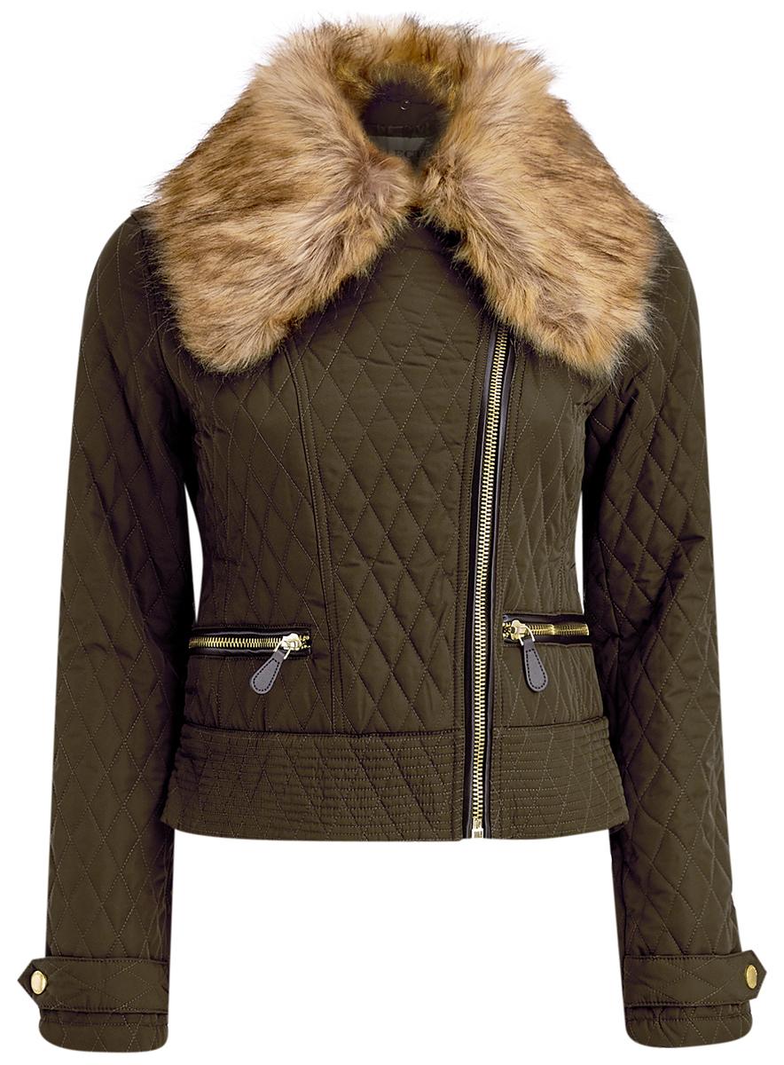 Куртка18304004/45669/2900NСтильная женская куртка выполнена из полиэстера с утеплителем из тонкого слоя синтепона, застегивается на ассиметричную молнию. Модель с отложным воротником, дополненным искусственным мехом, который пристегивается при помощи пуговиц. Спереди куртка оснащена двумя карманами на молниях. Манжеты рукавов дополнены хлястиками на кнопках.