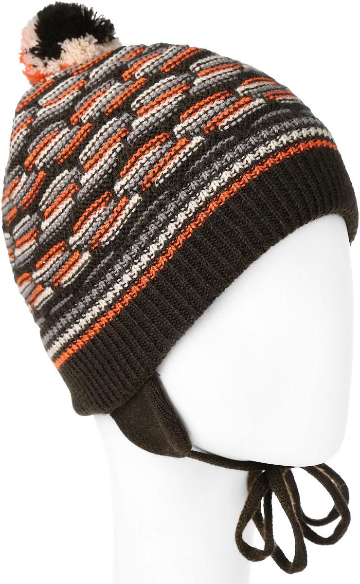 ШапкаMBU6867/2Детская шапка Marhatter выполнена из шерсти и акрила, подкладка - из полиэстера. Модель оформлена хаотичным принтом. Шапка с удлиненными ушками завязывается на завязки-шнурки. По низу изделие дополнено подворотом. Уважаемые клиенты! Размер, доступный для заказа, является обхватом головы.