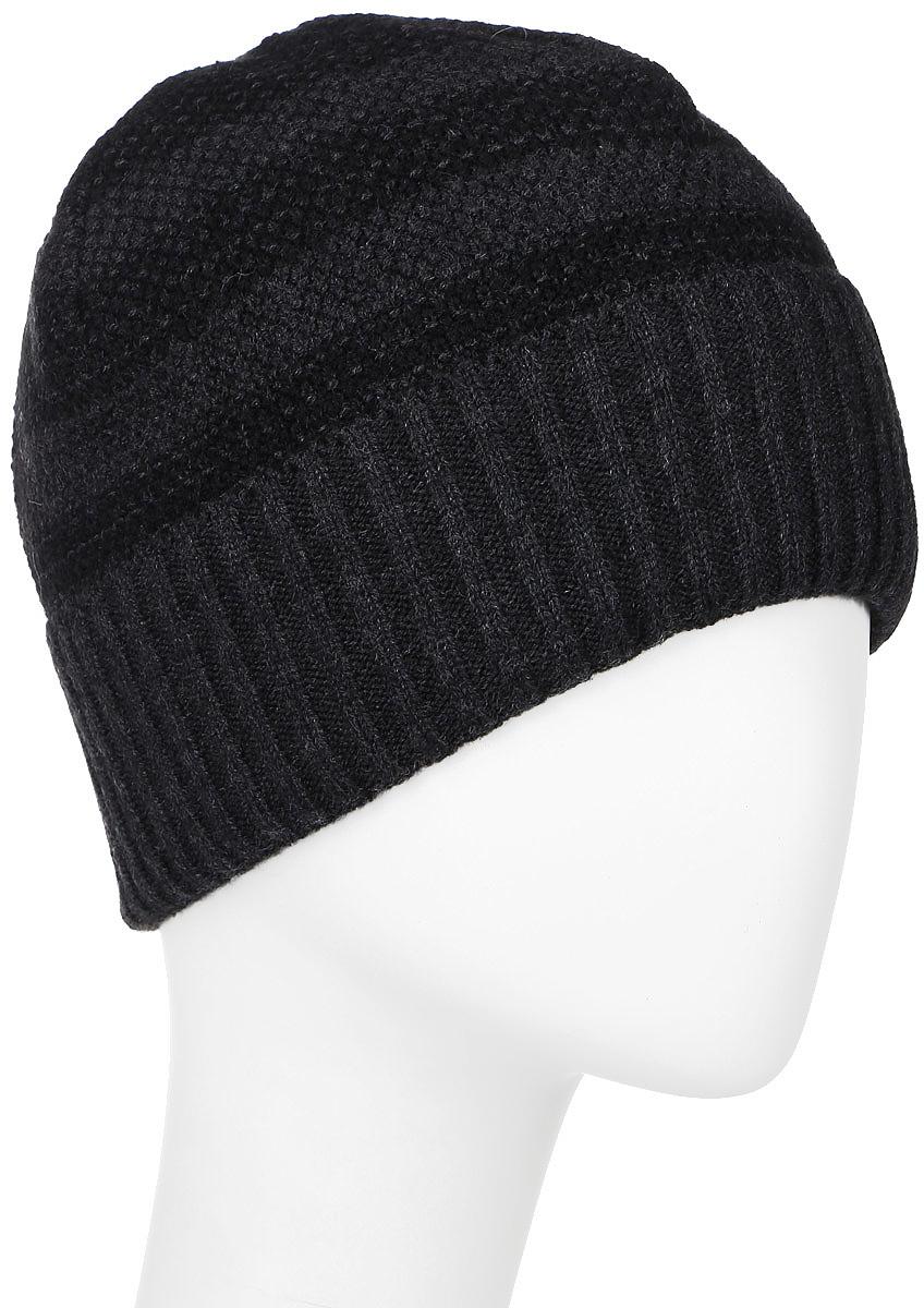 ШапкаMMH6731/2Теплая мужская шапка Marhatter отлично дополнит ваш образ в холодную погоду. Сочетание шерсти и акрила максимально сохраняет тепло и обеспечивает удобную посадку. Подкладка выполнена из мягкого флиса. Шапка двойная дополнена толстым отворотом и оформлена принтом в полоску. Уважаемые клиенты! Размер, доступный для заказа, является обхватом головы.