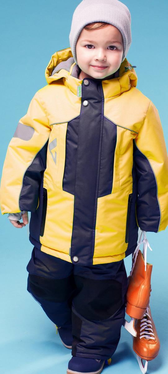 Комплект верхней одежды16/OA-1SU428-2Практичный комплект для мальчика Oldos Active Дамир состоит из куртки и брюк. Комплект выполнен из водонепроницаемой и ветрозащитной ткани. Водо- и грязеотталкивающее покрытие Teflon повышает износостойкость модели, что обеспечивает ей хороший внешний вид на всем протяжении носки. В качестве наполнителя используется холлофан - легкий антиаллергенный материал, который обладает отличной терморегуляцией. Изделие легко стирается и быстро сохнет. Куртка с капюшоном и воротником-стойкой застегивается на пластиковую молнию с защитой подбородка. Модель оснащена двумя ветрозащитными планками, внешняя пристегивается на застежки-липучки и кнопки. Подкладка курточки (кроме рукавов) выполнена из теплого и мягкого флиса. Регулируемый капюшон, дополненный по краю эластичным шнурком со стопперами, пристегивается к куртке с помощью молнии и кнопок. Края рукавов присборены на резинки и дополнены хлястиками на липучках. На рукавах предусмотрены эластичные манжеты с отверстием для...